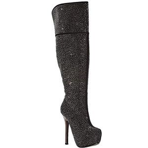 Shoes - Over The Knee Rhinestone Stiletto Heel Boots